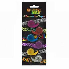 6 cintas de ornamento decorativo Dispensadores de rollos de papel Adhesivas Arte Hazlo tú mismo Washi Trim
