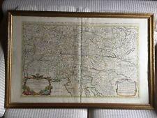 Kupferstich-Karte SANSON 1692-Salzburg/Steiermark-108x70cm-altkoloriert/gerahmt