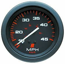 MERCURY SPEEDO BLACK RED 45 MPH MERCRUISER INBOARD OUTBOARD GAUGE