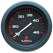 Mercury 45 MPH Boat Marine Speedo Speedometer & 7.6m Pitot Tube Black