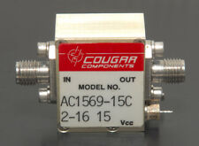 TELEDYNE COUGAR RF POWER AMPLIFIER AC1569-15C 10-1500 MHz +21 dB 50 Ohm SMA(f-f)