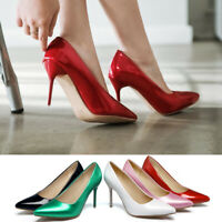 Ladies Casual Shoes Stiletto High Heels Pointed Toe Women Synthetic Leather Pump