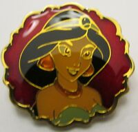Disney Store Jasmine with Red Background Pin