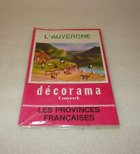 ANCIEN DECORAMA TOURET, L'AUVERGNE, DECALCOMANIES, LES PROVINCES FRANCAISES