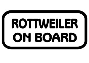 Rottweiler On Board Car, Van sticker, decal paw print