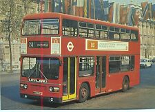 London Transport Leyland Titan B15 Whitehall 1970s postcard