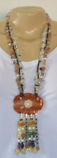 JADE ROSE NECKLACE BY DESIGNER 4LESS SEMI-PRECIOUS STONES AND FRESH WATER PEARLS