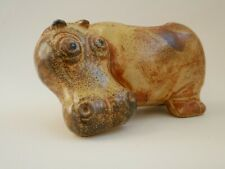 More details for vintage hippo plant pot planter desk caddy pottery ceramic studio 70s