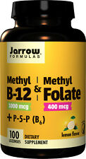 Jarrow Formulas Methyl B-12 1000 µg + Methyl Folate + Vitamin B6