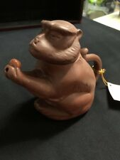 Monkey Teapot made from Purple Clay from Yixing China