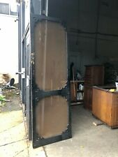 Tall vintage screen door Victorian age Black paint 95.5� x 32� x 1 1/8� solid