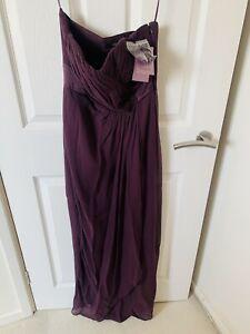 Ladies COAST Purple Maxi Chiffon Dress Wedding Prom Bridesmaid Occasion BNWT