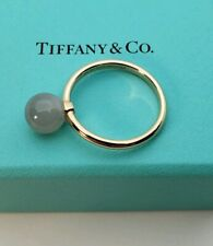 Tiffany&Co Hardware Ring in 18K Rose Gold with Grey Moonstone (8mm)