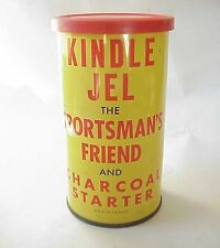 Vintage Kindle Jel Charcoal Wood Fire Starter Tin Can Hale MI Hunting Camping