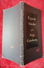 SERGE GAINSBOURG Eugénie Sokolov NRF, 1980 - Exemplaire dédicacé et signé.