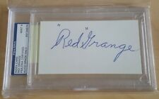 RED GRANGE GRADED 9 PSA DNA COA Autograph 3X5 Index Card Signed Authentic Bears