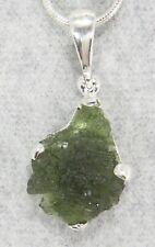 MOLDAVITE PENDANT $69 Tektite Sterling Silver Jewelry STARBORN CREATION MP69-R18
