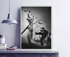 "Philippe Halsman Vintage Photograph print, ""Jump"" Popcorn nude with Dali / Art"