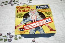 Vtg Forest City Sturdy Pants Sanforized Denim Patches W/ Orig Packaging 50s