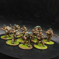 Well Painted 28mm Bolt Action British commandos (plastic) ×10 squad #4 ww2