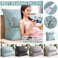 60x50x20cm Wedge Back Pillow Support Lumbar Chair Rest Neck Cushion Headboard