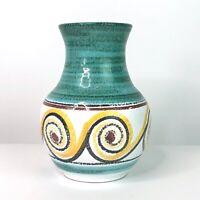 Vintage Mid Century NT CHANIA KRIT Greek Crete Studio Pottery Vase GREECE