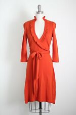 Orange Ruffle Wrap Banana Republic Sweater Knit Dress XS/S