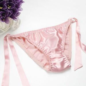 4 PACK 100% Silk Women's Belt Bikini Panties Briefs Underwear Lingerie MS006