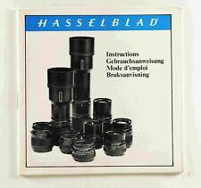 Hasselblad C Cf series Lense Instruction Book Manual Paperwork