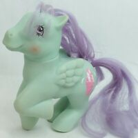 My Little Pony toy figure Pegasus Green Vintage 1987 1980s Flawed