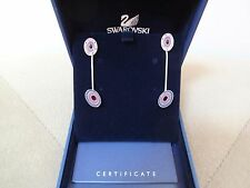 SWAROVSKI EARRINGS PINK LAVENDER CRYSTALS STUD&DROP ENAMEL EARRINGS