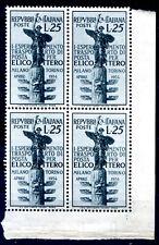 ITALIA 1954 - ELICOTTERO  QUARTINA NUOVA **  ADF