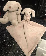 Mothercare Comfort Blanket & Plush Toy Puppy Dog blankie Sensory Toy Bundle