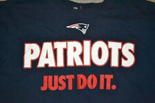 Nike Men's New England Patriots T-Shirt Blue Red White Size L Guc