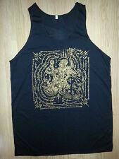 Men Tank Top sleeveless dragon demon bali Om thai hindu NEW hippie om Cotton XL