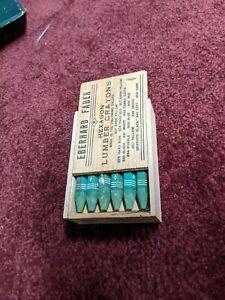 Eberhard Faber Lumber Crayons  - green in original wood box