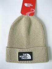 The North Face Logo Box Cuffed Beanie Beige 3FJX