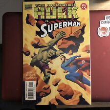 The Incredible Hulk vs Superman Volume One July 1999 DC Comics Marvel Comics EUC