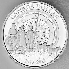 2013 $1 100th Anniversary of Canadian Arctic Expedition Pure Silver Proof Coin
