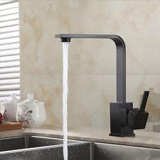 Kitchen Faucet Black Modern Kithcen Sink Tap Single Lever Swivel Spount