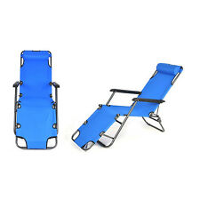 Folding Chaise Lounge Chair Patio Pool Outdoor Beach Lawn Recliner Reclining New