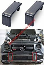 Carbon Front Bumper Fangs Covers Mercedes G500 G55 G63 G65 W463 New AMG Style