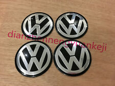 4PCS 60MM Car Wheel Center Hub Cap Emblem Sticker Fit For BLACK VW