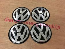 4PCS 60MM Car Wheel Center Hub Cap Emblem Sticker Fit For BLACK VW