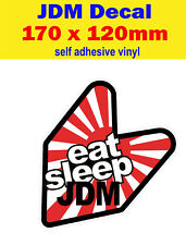 EAT SLEEP JDM Divertente Decalcomania Adesivi Paraurti Euro Dub Drift HONDA JAP STREET RACE