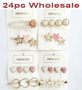 24pc Wholesale Women Girl's Hair clips Hairpin Accessories Mixed