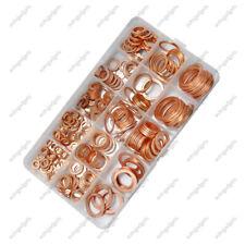 Copper Metric Sealing Washers Assortment Set Box 300Pcs 12 Sizes Flat Ring Seal