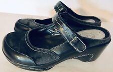 Rialto Women's Mystical Mule Mary Jane Slip On Shoes Black Size 8W