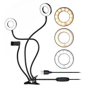 docooler Clip-On Mini USB  Light Fill-in Lamp Dual Lights 3 Lighting A5R7