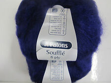 PATONS SOUFFLE 8PLY 5 BALLS PURPLE,NO 034,MOHAIR/ACRYLIC,DISCONTINUED RANGE